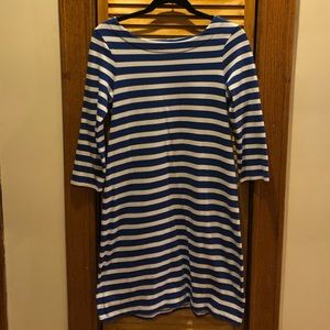 Vintage Gap Blue and White Striped Dress Small